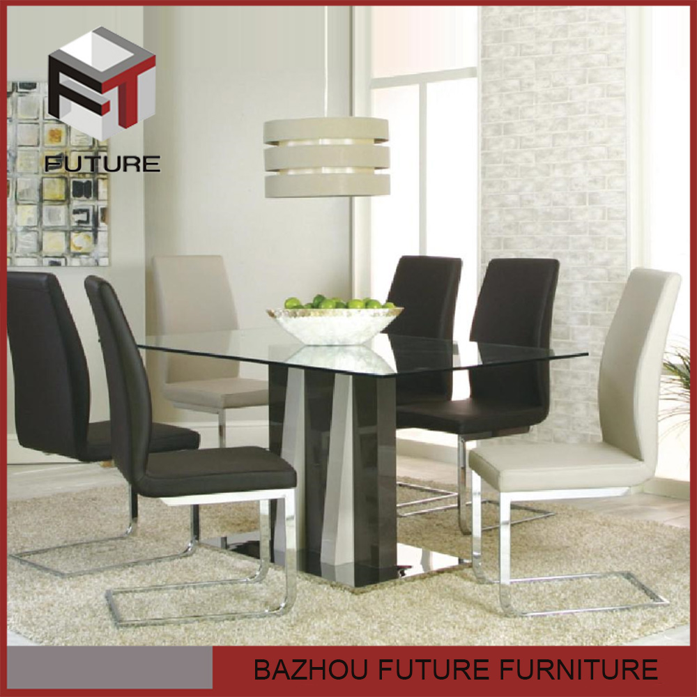 cheap wood glass dining room furniture restaurant table