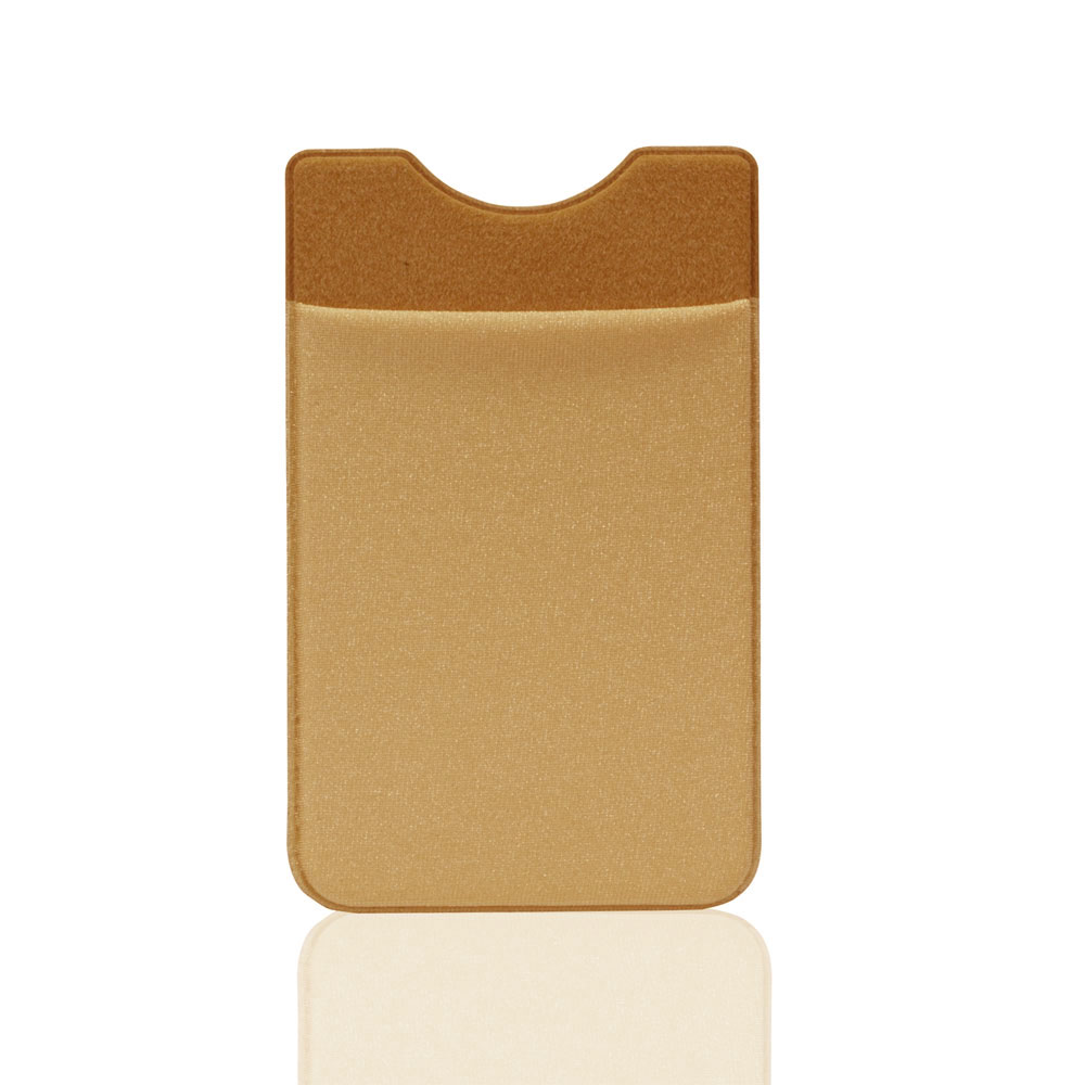pu leather 3m sticker adhesive backed shining pu leather credit card holder for phone 11