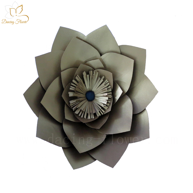 Good quality wholesale cheap artificial large paper flowers for wall decoration