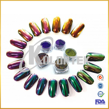 Cosmetic chameleon color changing nail powder mirror chameleon effect pigment