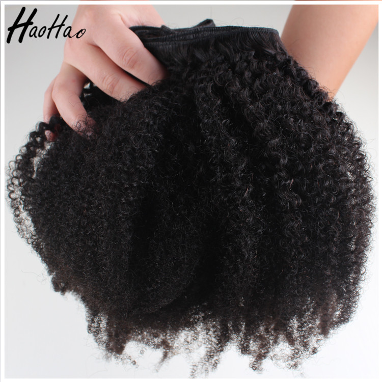 High quality new product 4c afro kinky curly human hair weave