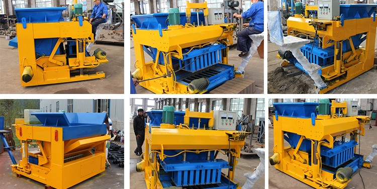 2017 new production mini mobile portable concrete block make manual machine price in india