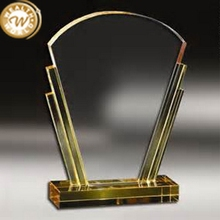 Fashion most popular custom-made best glass crystal trophy