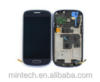 Wholesale factory price for Replacement LCD assembly with frame For Samsung galaxy s3 mini i8190 blue