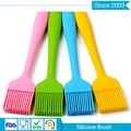 diverse color bbq silicone oil and pastry soft small stainless steel kitchen brush