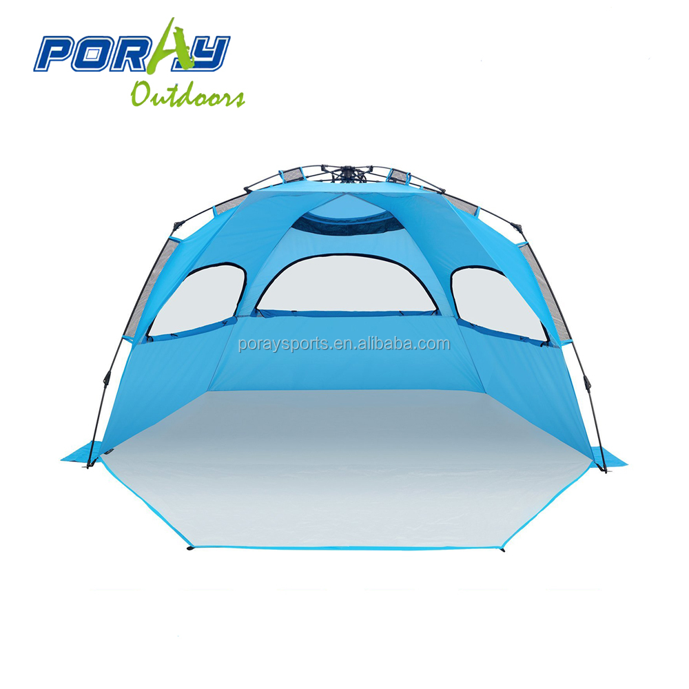 Deluxe large easy setup beach <strong>tent</strong> with zipper door for family
