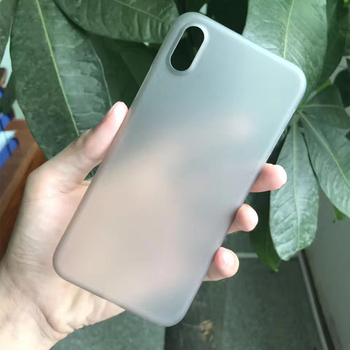 0.35mm PP Ultra-Thin Hard Protect Case For iphone 8,Semi-transparent