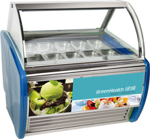 Green&Health commercial popsicle display gelato display case