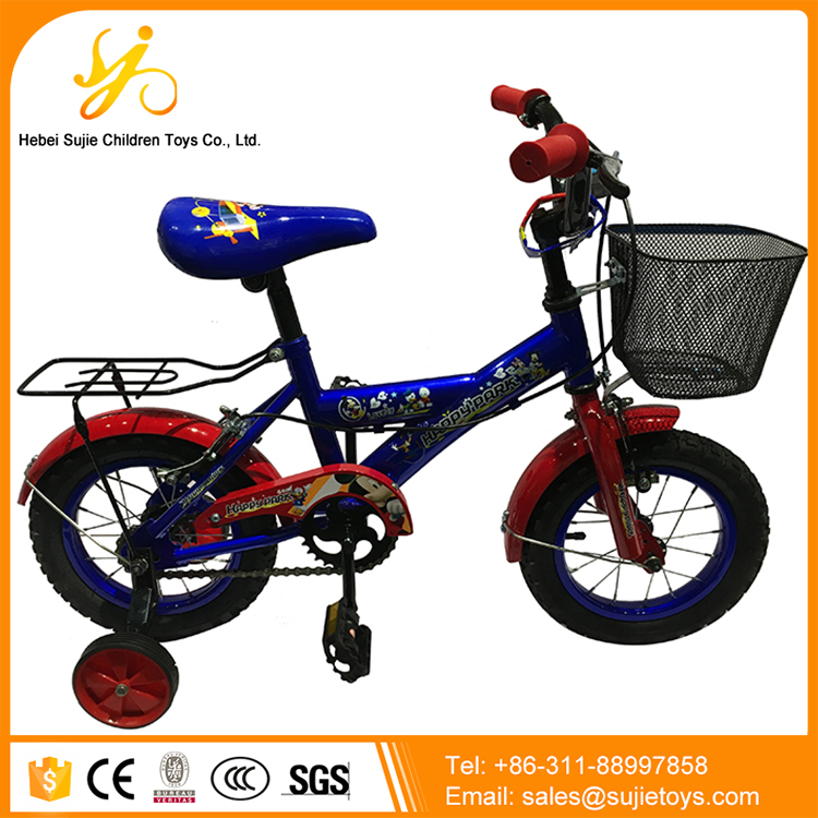 Hot sale unique children cycle in bicycle for sale / 4 wheels baby cycles model / wholesale baby bicycle with rear seat