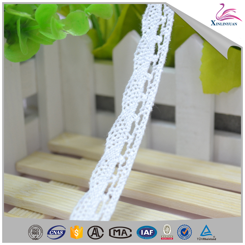 100 cotton environmental neck embroidery lace trim
