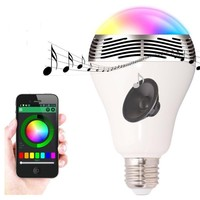 2 in 1 remote control indoor bluetooth professional speaker with bulb led light for smart phones for iphone