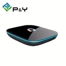 qbox hd satellite receiver amlogic S905 Quad-Core android 5.1 tv box 16gb