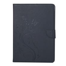 In stock For iPad mini 3 Pressed Flowers Butterfly Pattern Horizontal Flip PU Leather Case with Magnetic Buckle & Holder