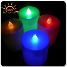 Multi color real wax led flashing candle wireless flameless light up Dream Candles for promotion gifts Made in China