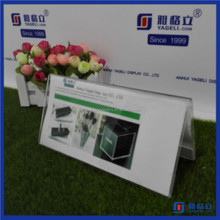 Factory direct selling acrylic menu display stands / clear tabletop menu holder acrylic magnet sign holder