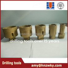 Long life-span brazed diamond core drill bits, hole saw drill for marble, granite, stone