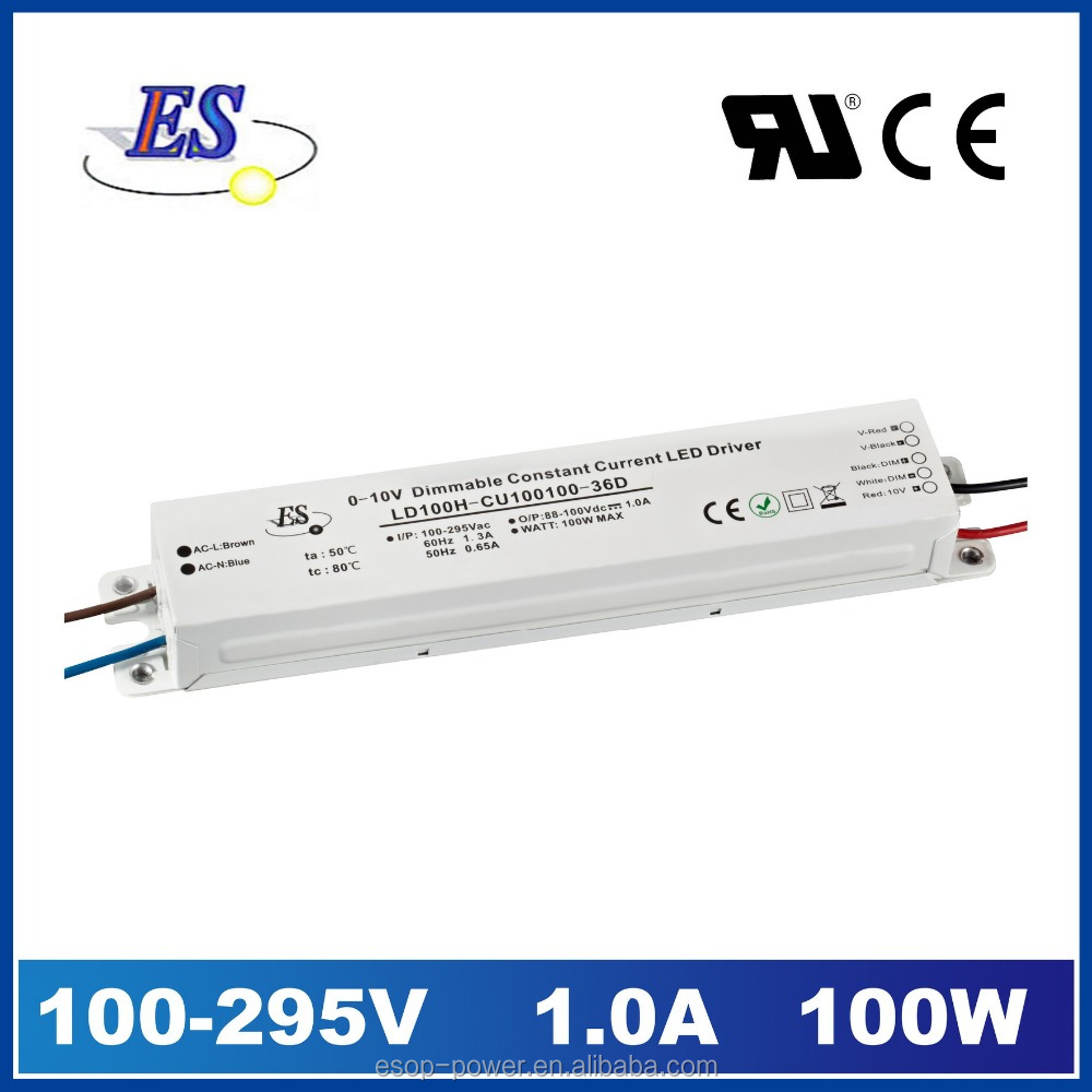 100 watt Constant Current LED Driver by 1-10V Dimming