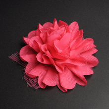 BOKA new design mesh chiffon red artificial flowers for wedding decoration