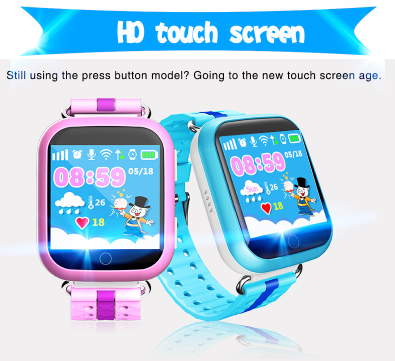 Child gps tracker wrist watch tracking device Q750 kids smart watch mobile phone
