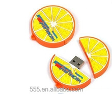 cartoon character usb flash drive orange shape USB pendrive 8GB for promotional gift