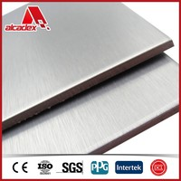 4x10 brushed silver dibond 3mm sheets