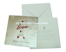 custom design printing wedding paper invitation card for gift promotional