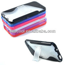 Softgrip Kickstand Hard Cover Soft Case Phone For Samsung Galaxy S4 i9500