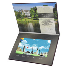 Shenzhen produce promotional video brochure business card with lcd screen