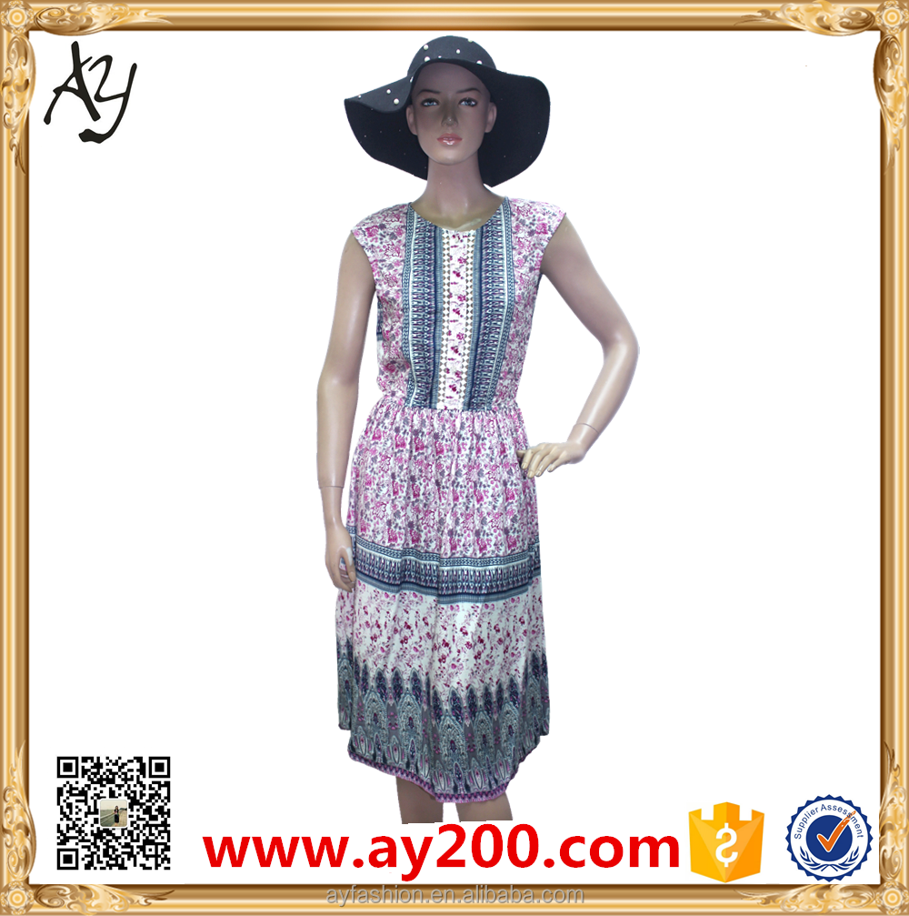 Bohemia Style Ladies Summer Dresses Pictures Of Smart Casual Clothing For Women Casual Clothes