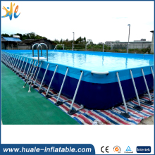 High quality detachable steel swimming pool, removable metal frame pool