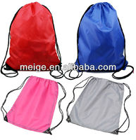 Waterproof polyester bag/recycled polyester bag/small polyester drawstring gift bag