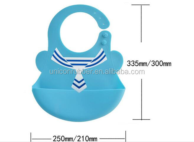 0~6 Y Waterproof EasyClean Soft and Can be Folded Cartoon Silicone Baby Bib