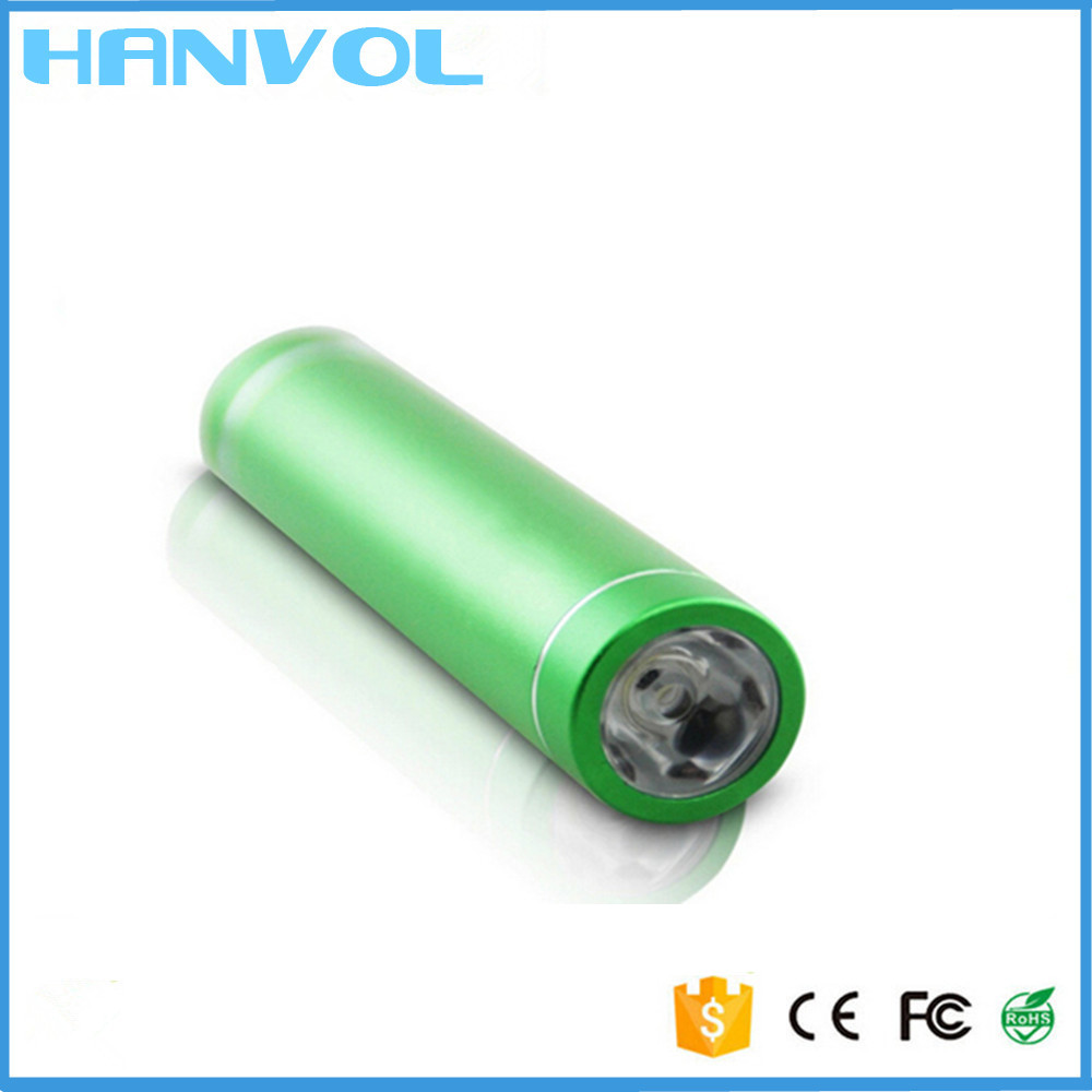 hottest selling products 2600mAh Aluminum Tubes Cylindrical Mobile Power Bank for smartphone MP34 iPod