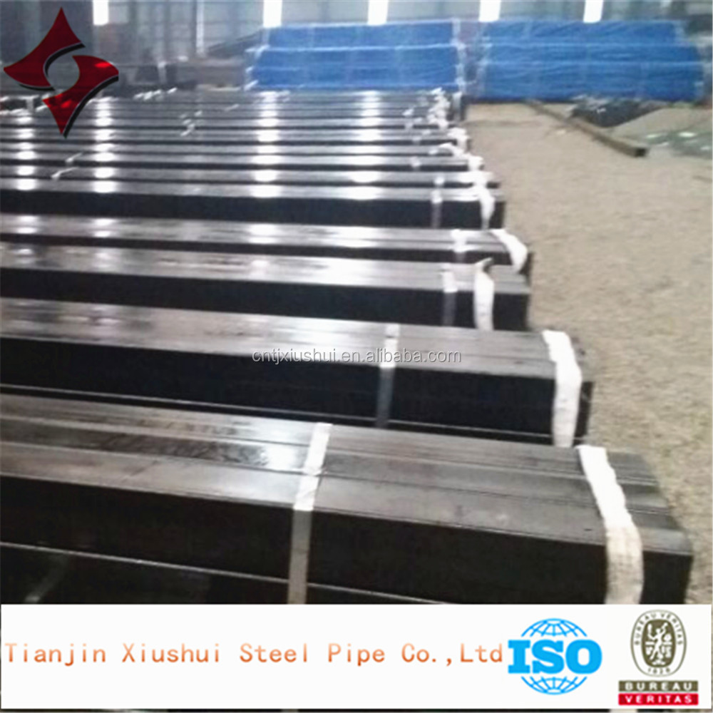 ERW welded cold rolled Q235 rectangular/square carbon steel pipe/ tube in Tianjin Xiushui