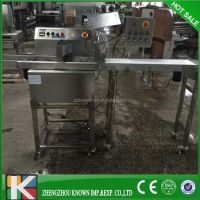 Small chocolate enrobing machine / chocolate enrober making machinery / chocolate dipping machine