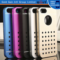 Elegant Silicone and Aluminum Metal Case With Hole For iPhone 5S