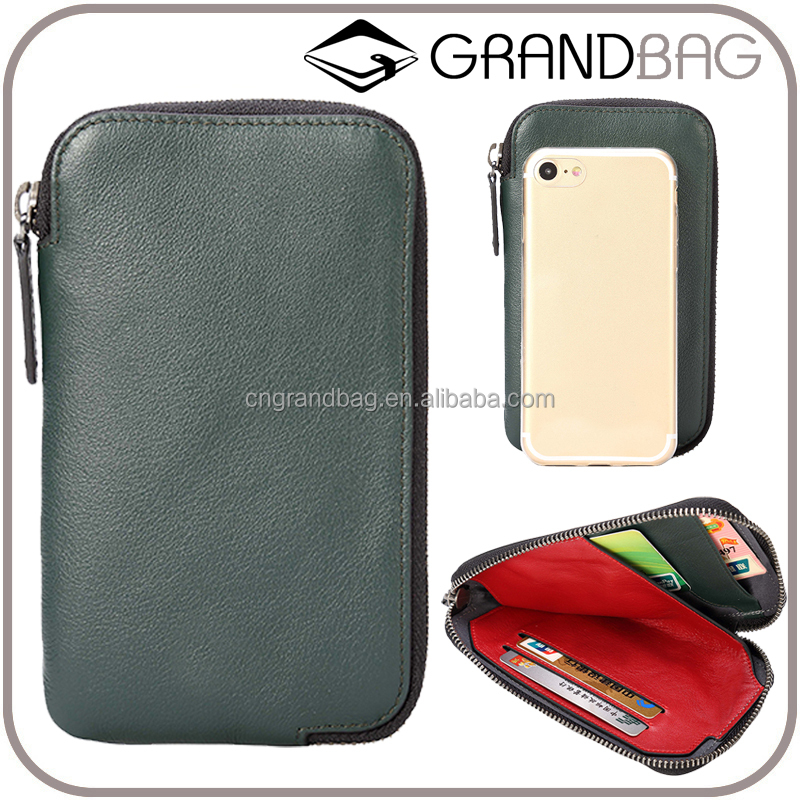 Double Zipper Clutch Wallet Long Genuine leather Wallet Men clutch bag high quality leather business men cell phone hand bag