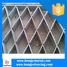 Serrated Galvanized Stair Treads Steel Bar Grating Standard Weight