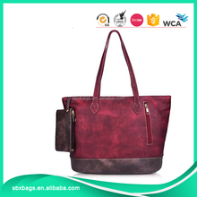 hot selling PU leather purse women handbag large capacity tote bag