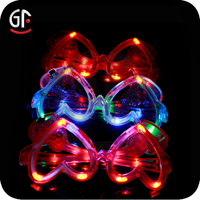 Trending Hot Heart Shaped Led Sparkling Eyeglasses Frame For Party Decoration