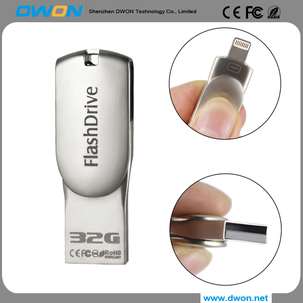 Hot-selling USB flash drive,USB Flash USB drive mini metal cover 64GB with free samples