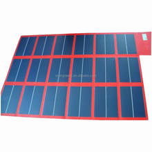 108W flexible and foldable amorphous silicon solar battery charger 48v