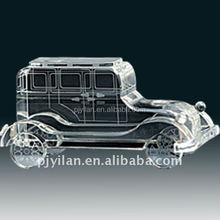 clear glass decorative cars crystal car model engraving