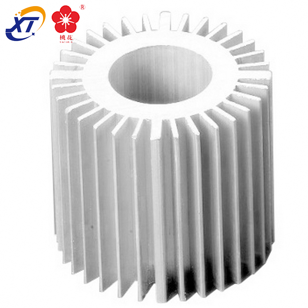 Extrusion profile round anodized <strong>aluminium</strong> heatsinks supplier