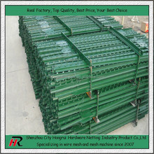 direct factory hot sale hot dipped galvanized or bitumen 2 meters height T fence post