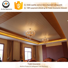 Sichuan chengdu Wood Plastic Composite Wall Panel WPC House Ceiling Decorate Design Panel