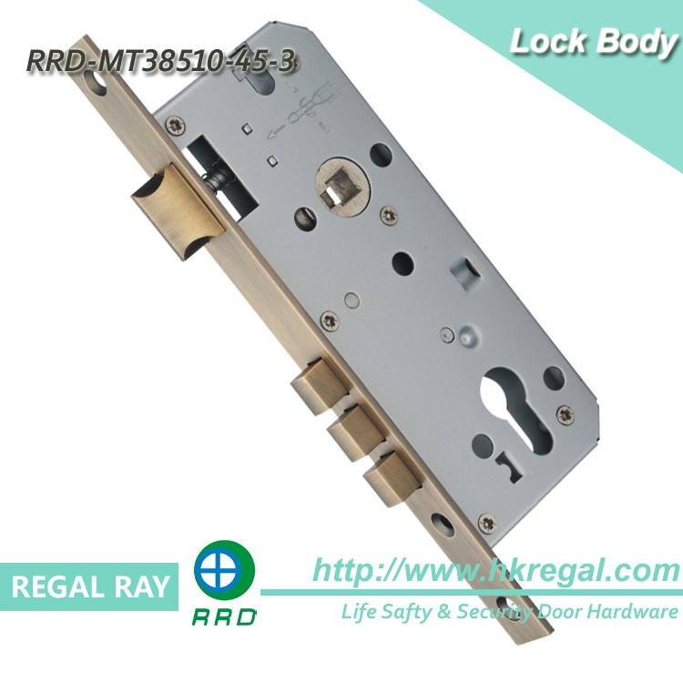 MT38510-45 Thee Deadbolts Mortise Door Lock Body