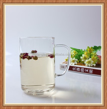 Hot sale! China supplier 400ml handmade round bottom heat resistant/pyrex water cup glass