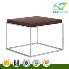 Simple style Square Walnut wood side table end table wooden teapoy