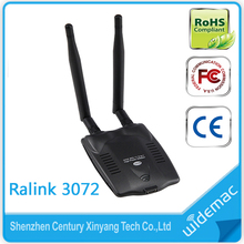 USB2.0 Hi-Speed connector 300M 802.11N Ralink 3072 High Power Wireless USB WiFi Adapter with SMA 5dBi Antenna